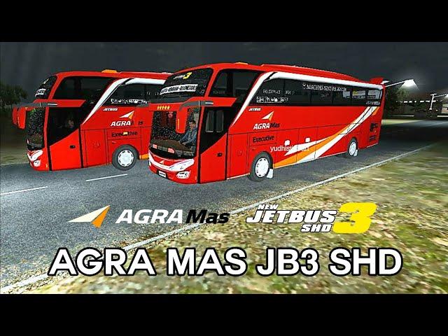 Agra Mas SHD v2 (Jetbus 3 + Link) || Livery BUSSID