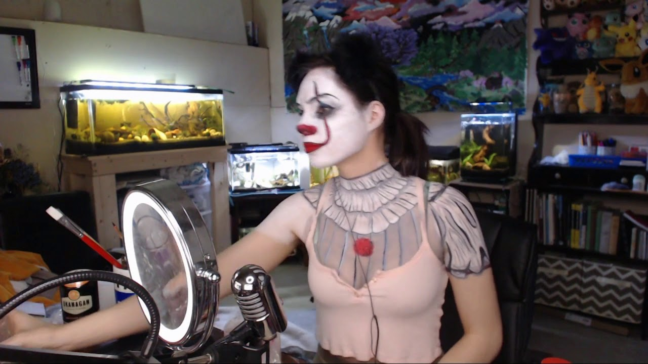 Pooflower - Pennywise/Emili face/body painting (sped up version) by  Galderrama