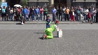 The Clown at Plaza de Armas Santiago de Chile