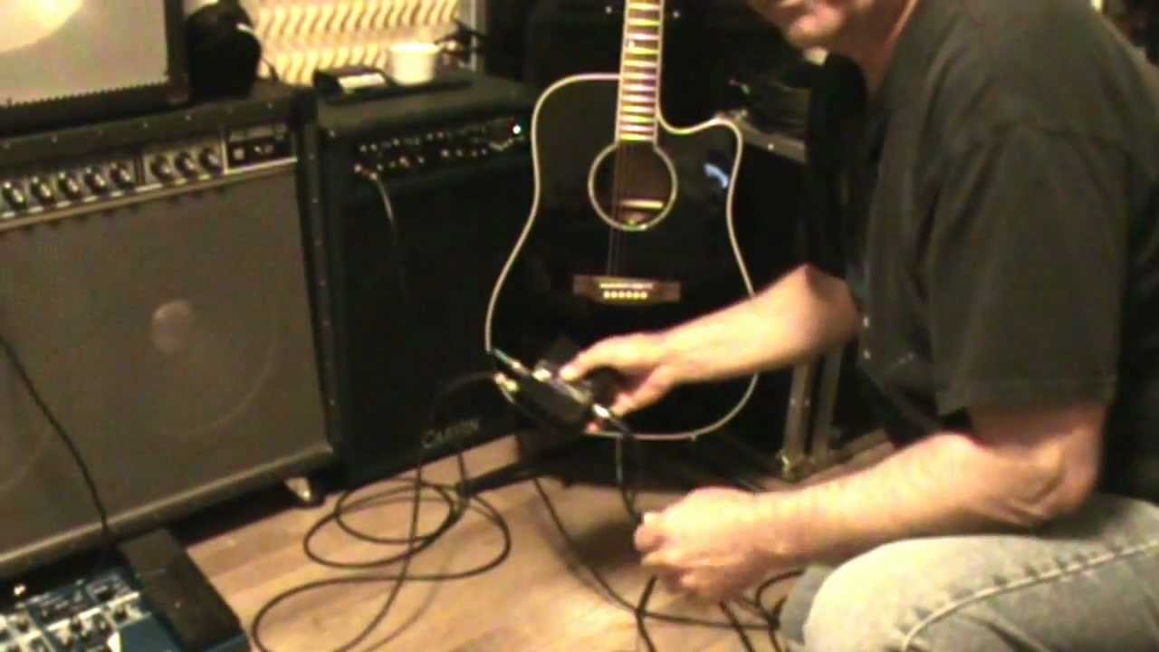 Using A Di Box For Acoustic Guitars Audiotech Youtube Taylor Guitar Wiring Diagram