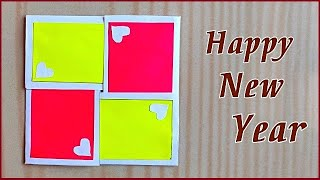 Very easy new year 2020 card making How to make happy new year greeting card 2020