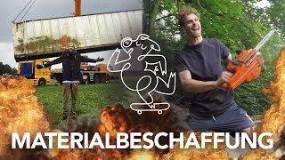 Monsterkran, Seecontainer, Motorsäge = Pic&Abfahrt | Heimwerkerking Fynn Kliemann