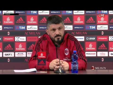 Gattuso conferenza pre Genoa - Milan [FULL HD] 10.03.2018