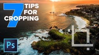 CROP in PHOTOSHOP CC - 7 INSTANTLY useful TIPS