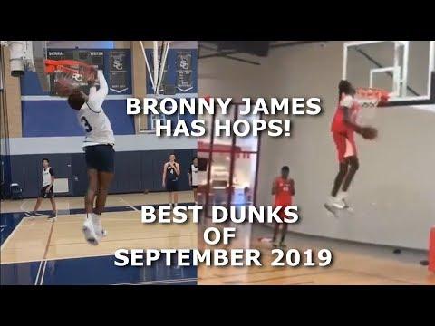 Bronny James Jr has HOPS now! Best Dunks from September 2019!! Jimma Gatwech & MORE!
