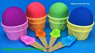 Kinetic Sand Ice Cream Surprise Toys Kinder Joy Barbie Minions Baby Secrets Kinder Egg Learn Colors