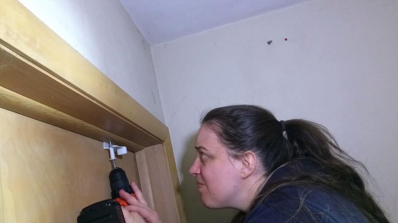 Leah Installs Child Proof Deluxe Door Top Lock