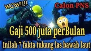 Gaji Tukang Las Bawah Laut Wow 462jt Perbulan Gajiterbesardiindonesia Welder Youtube
