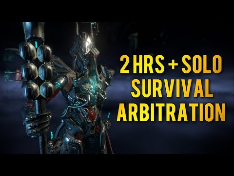 Warframe: 2hrs+ SOLO SURVIVAL ARBITRATION | UBER TANK INAROS PREVIEW thumbnail