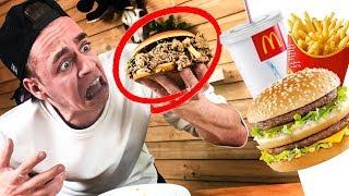 Ganzes McMenü mixen ! ekeliger Burger Experiment 🍔 || Flowest
