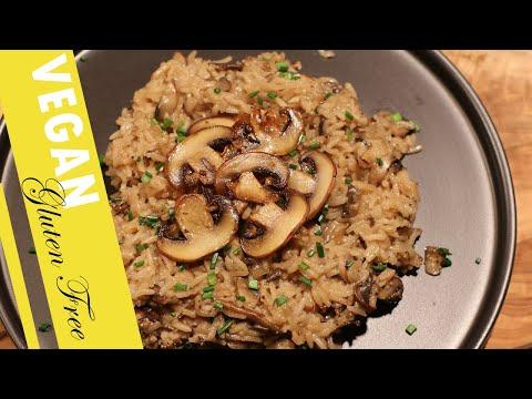 The Easiest Vegan Mushroom Risotto (Gluten Free)