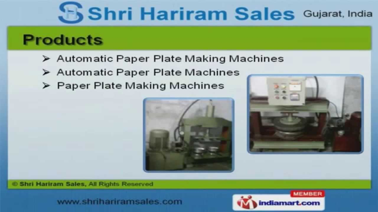 sc 1 st  YouTube & Paper Plates u0026 Raw Material By Shri Hariram Sales Surat - YouTube