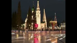 В Ярославле заработал ледовый каток на Советской площади