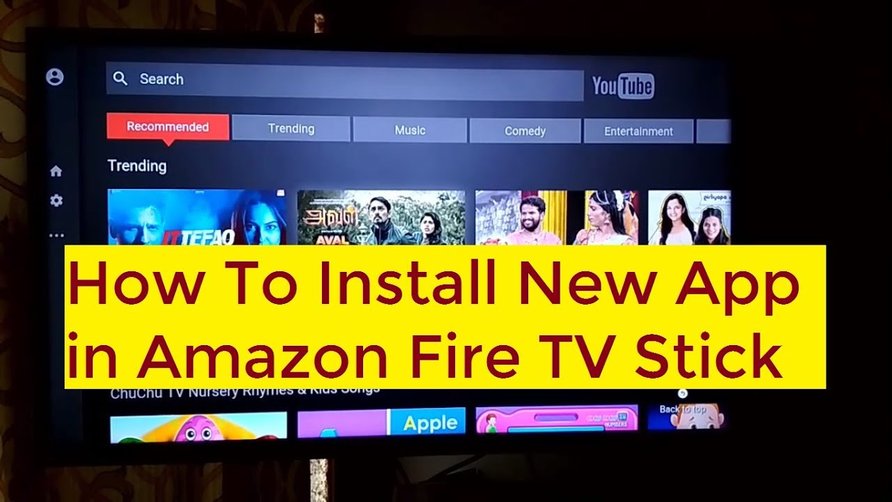 Amazon fire stick and youtube app