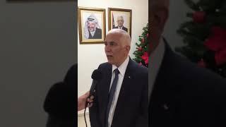 محافظ بيت لحم في لقاء متلفز مع فضائية فلسطين حول تسمية شارع مارشربل ببيت لحم