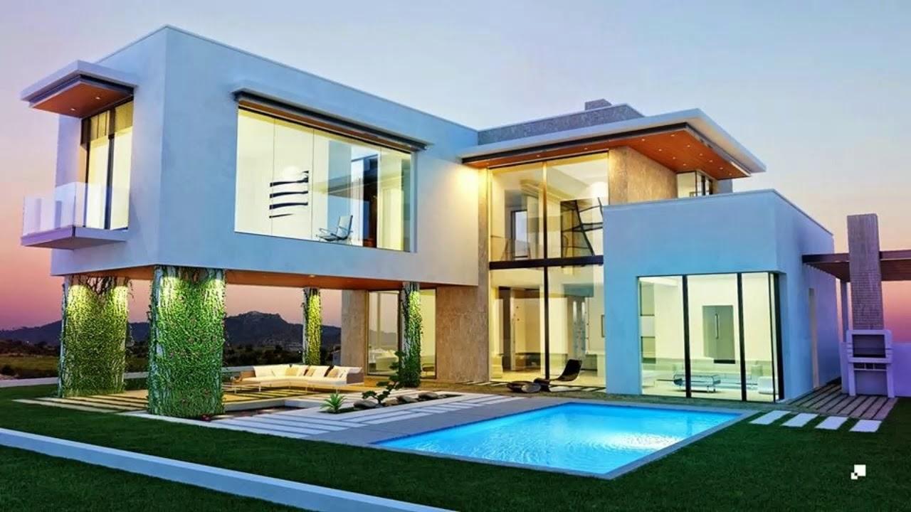 Casas Minimalistas Modernas con piscina  YouTube