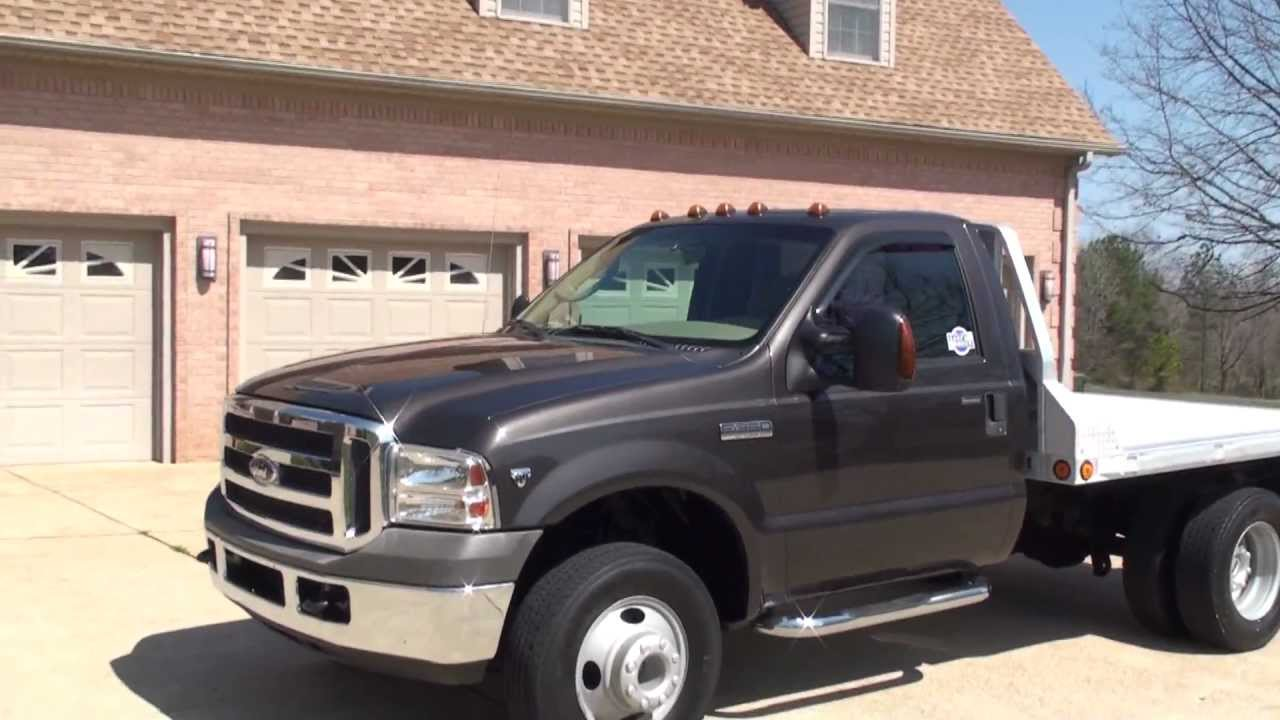 Hd video 2005 ford f350 xlt 4x4 5 speed v10 gas used for sale see www sunsetmilan com