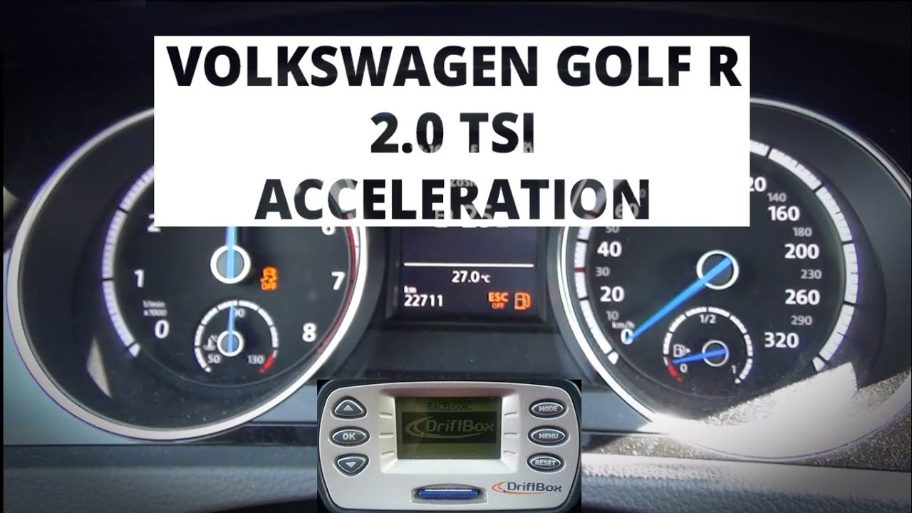 Volkswagen Golf R 2 0 TSI 300 hp acceleration 0 100 km h