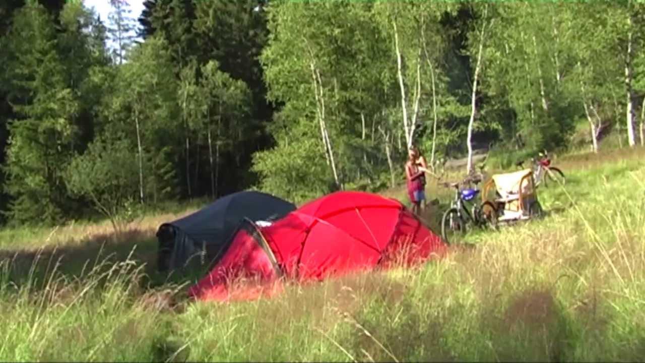 Zelt Im Koffer : Frei sein draußen mit fahrrad zelt im
