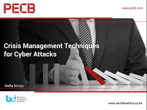 Crisis Management Techniques for Cyber Attacks