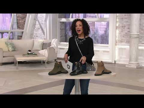 Franco Sarto Suede Side Buckle Ankle Boots - Meridian On QVC