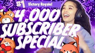 Getting a Solo Win while hitting 4k Twitch Subscribers! - Valkyrae Fortnite