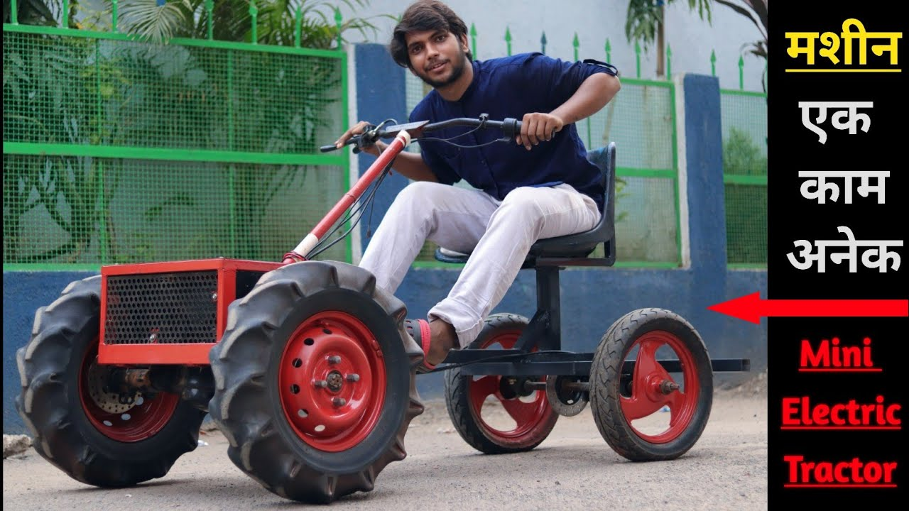 Build a 1000W mini Electric tractor at Home-Agriculture