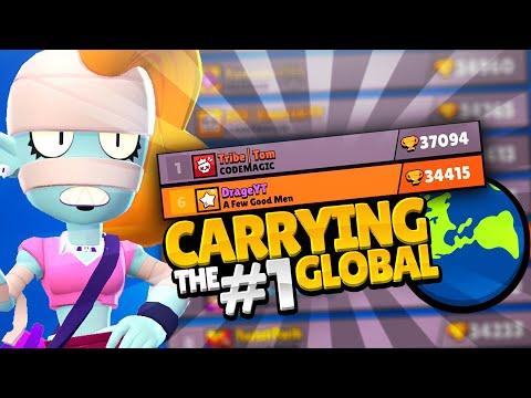 CARRYING THE #1 GLOBAL PLAYER TOM 37000+🏆   Brawl Stars