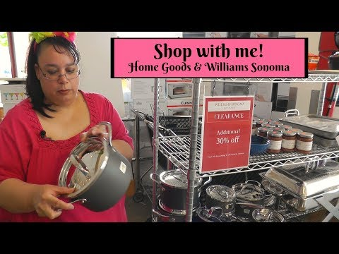 Shop with me! Birthday Shopping Haul ~ Williams-Sonoma Outlet & Home Goods ~ Amy Learns to Cook