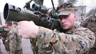 US Marines Familiarize Themselves with Latvian Weapon Systems