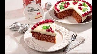 Медовый пирог с клюквой и кремчизом