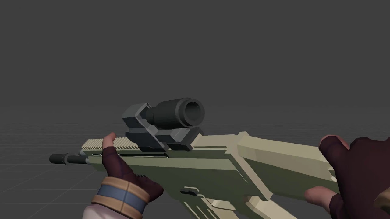 [3D Animation] Scar-H first-person reload