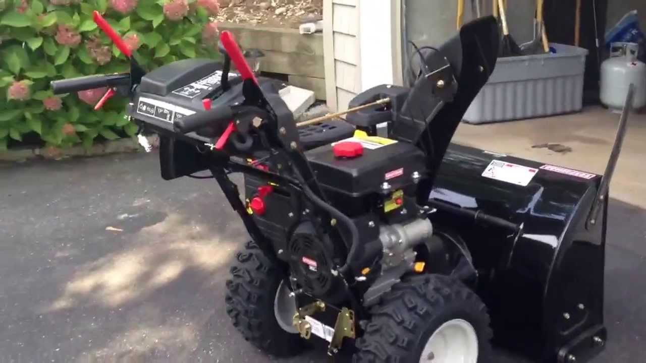 craftsman 30inch snow blower 357cc 2013 youtube. Black Bedroom Furniture Sets. Home Design Ideas