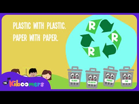 Earth Day Recycling Song Lyrics for Preschool | Reduce Reuse Recycle Song for Preschoolers
