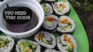 THE BEST VEGAN SUSHI - Sweet Potato Sushi Recipe - HCLF VEGAN