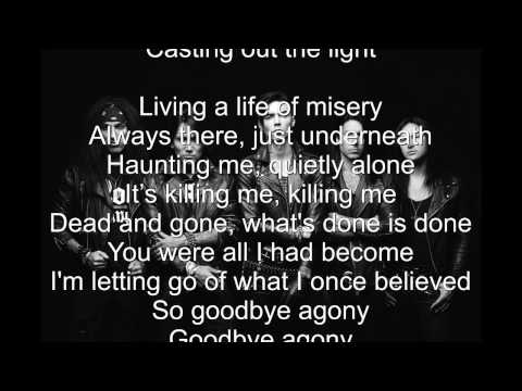 Black Veil Brides Goodbye Agony (Lyrics) HD