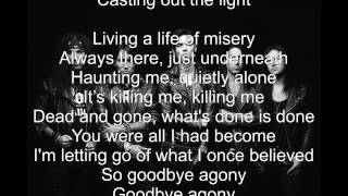 Repeat youtube video Black Veil Brides Goodbye Agony (Lyrics) HD