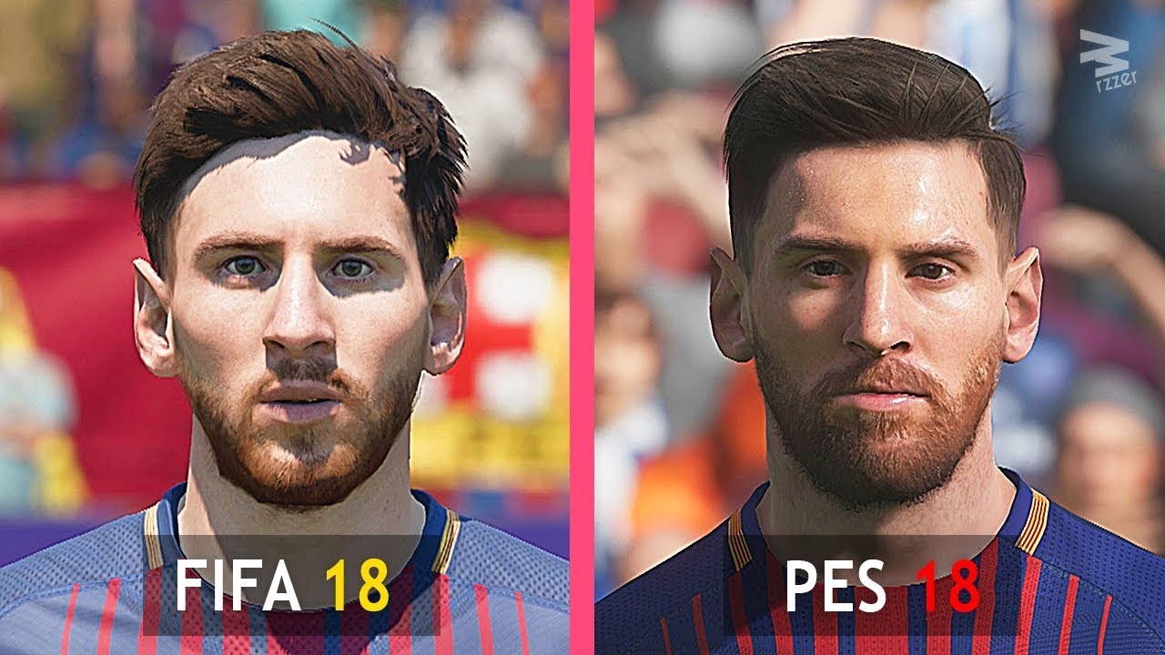 FIFA 18 Vs PES 18: Barcelona Faces Comparison