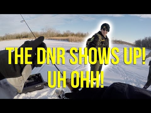 THE DNR SHOWS UP! UH OHH!!!