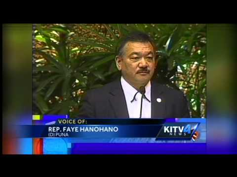 The controversial Hanohano speaks Hawaiian only on the house floor