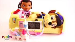 Обучение Цветам Видео Для Детей: Лапа Патруль Скай Имеет Оучи Звонки Doc Mcstuffins Скорая Помощь