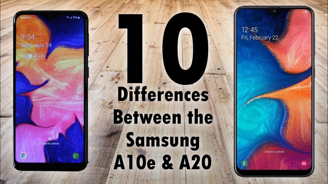 Samsung Galaxy A20 Vs Samsung Galaxy A10e