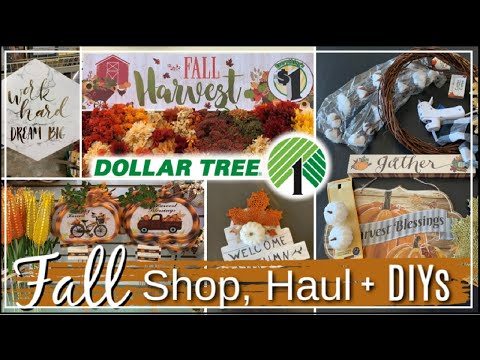 NEW FALL Dollar Tree DIYs, Fall Shop WIth Me + Haul | New Dollar Tree Finds Momma From Scratch