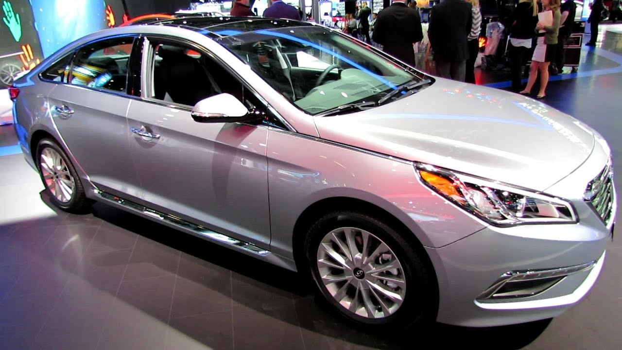 2015 Hyundai Sonata Limited   Exterior And Interior Walkaround   Debut At  2014 New York Auto Show   YouTube