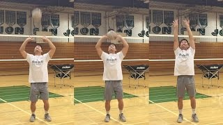timing hand sensitivity how to set a volleyball tutorial part 25