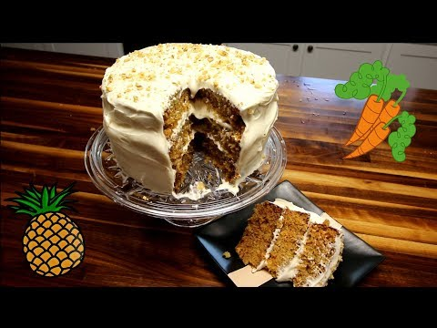 Old-Fashioned Pineapple Carrot Cake With Cream Cheese Frosting/Old School Recipes #5