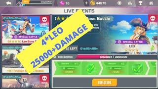 How To Get 4* Leo Damage Tekken Mobile - ☆☆☆☆Leo Boss Battle Comeback