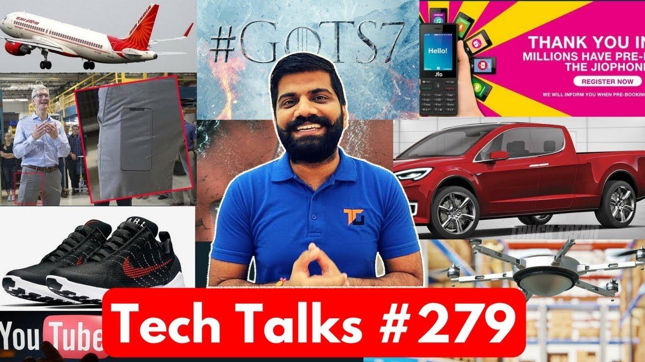 Tech Talks #279 - Jio Phone Booking Stop, iPhone 8 Leak, Air India Emergency, GoT Climax, MARS Snow