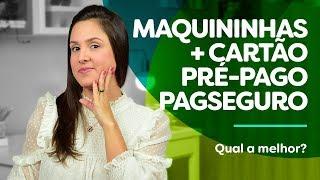 Maquininhas + cartão pré-pago Pagseguro, QUAL A MELHOR?! Minizinha, Mini, Moderninha wifi e Pro