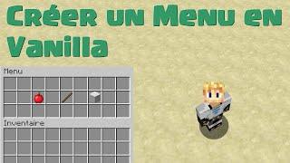 TUTO #2   Minecraft : Créer Un Menu Cliquable (Vanilla)